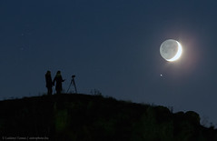 The Hill, The Moon, and Saturn (Grypons) Tags: astronomy picture day by nasa astronomypictureoftheday