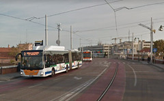 19 (ERREGI 1958) Tags: autobus bus venezia venice italia italy veneto rotaia monorotaia transportation pubblico translohr tram bridge liberta public track trasporto ponte binario actv