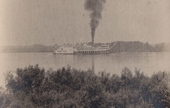 """SHIP RPPC c.1906 STEAMBOAT RIVERBOAT THE ST PAUL Built 1883 St. Louis MO for the St.Louis & St. Paul Packet Co. & ran under the Diamond Jo Flag Rebuilt 1892 at Eagle Yard Dubuque IA- (UpNorth Memories - Donald (Don) Harrison) Tags: vintage antique postcard rppc """"don harrison"""" """"upnorth memories"""" upnorth memories upnorthmemories michigan history heritage travel tourism restaurants cafes motels hotels """"tourist stops"""" """"travel trailer parks"""" cottages cabins """"roadside"""" """"natural wonders"""" attractions usa puremichigan """" """"car ferry"""" railroad ferry excursion boats ships bridge logging lumber michpics uscg uslss"""