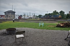 Front Row Seat (csx7661) Tags: train railroad railfan railroadphotography firepit deshler deshlercrossroadspark freight csx bo ohio history trains locomotive ge nikon explore