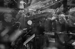 Yellow Lenses (Shell Daruwala) Tags: gig music musicians jazz yellowlenses roypfeffer robupdegraff petewhittaker jacjones drums sax keys guitar quartet archduke live multipleexposure ricoh ricohgrdigital ricohpentaxgr ricohgr2 monochrome bw blackandwhite