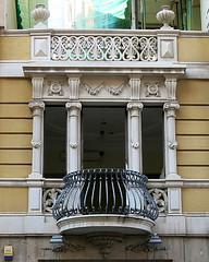 Neoclassical Modernista facade, Barcelona