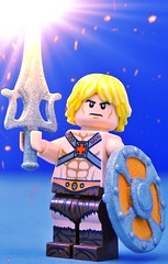 He Has the Power (Hobbestimus) Tags: lego heman mastersoftheuniverse 80s cartoon toys