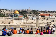 On the rooftops of Jerusalem (jbdodane) Tags: alamy alamy181101 israel jerusalem jewishquarter kids middleeast oldcity rooftop templemount