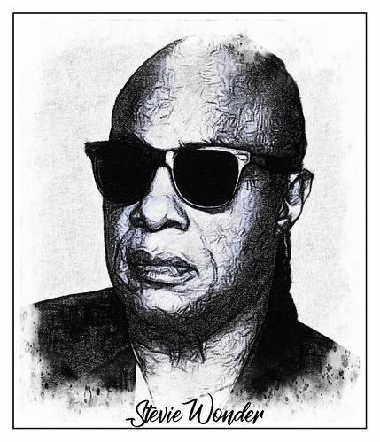 Stevie Wonder fan photo