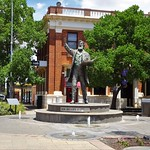 Parkes. Town statue of its name sake Sir Henry Parkes who was the Father of Federation in Australia. Behind is the 1925 heritage listed National Australia Bank now the NAB. thumbnail