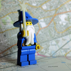 122  of Year 5 - Wizard on the maps (I'm Tim Large) Tags: wizard maps lego 365 122 tabletop detail small tiny fuji fujifilm os x70