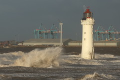Stormy Day at New Brighton (RuaraidhG) Tags: waves newbrighton wallasey seaside storm lighthouse merseyside sea