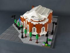 Mini LEGO Letchworth Broadway Cinema (ninbendo) Tags: mini lego letchworth broadway cinema microscale art deco ninbendo ninbend0 worlds end mermaid club
