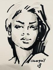 14F07C5E-12F6-4376-97C8-9B4090228B7D (Cauquil Claude) Tags: drew art artmartinique bw cauquil caribbean westindies fortdefrance fwi martinique outremer plasticien portait peintre