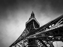Tokyo Tower (amipal) Tags: blackandwhite lines travel japan tokyo tower asia architecture