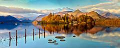 Derwent Water Panorama (Dave Massey Photography) Tags: derwentwater keswick catbells derwentisle lakedistrict cumbria reflection