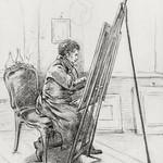 Portrait of Gerrit Jan Michaëlis, sitting in front of easel in his studio (1823) by Jean Bernard (1775-1883). Original from the Rijks Museum. Digitally enhanced by rawpixel. thumbnail