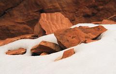 Rocks in the Snow (arbyreed) Tags: arbyreed winter snow redrock sandstone sedimentaryrock landscape colorado mesacountycolorado coloradonationalmonument intimatelandscape close closeup cold