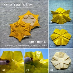 Tutorial New Year's Eve - part 4 (talina_78) Tags: origami star hexagon tutorial