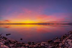 Splendid Smooth Still Shiny Sparkling Saturday Salton Sea Sunset (slworking2) Tags: niland california unitedstates us nilandmarina saltonsea lake desert califor beautiful sunset sky clouds colorful