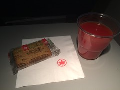 Air Canada inflight snack #airlinemeals (brownpau) Tags: food airlinemeals aircanada tomatojuice cracker iphone5s