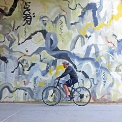 turbulent times (Jim_ATL) Tags: mural risingredlotus beltline art waves chaos bicycle bike atlanta explored