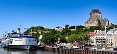 Quebec city (Juan Paz V) Tags: quebec city castle ship blue cars green trees