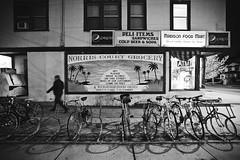 311/365 (local paparazzi (isthmusportrait.com)) Tags: 365project canon5dmarkii 1635mmf28lii 1635mm f28l lopaps pod 2018 redskyrocketman localpaparazzi isthmusportrait madisonwi danecountywisconsin black white blackandwhite negro blanco negroyblanco bikes bicycle lowlight afterdark slowshutterspeed darkness shadow fallnights autumnnights downtown downtownmadison iso5000 night darkest darknight johnsonstreet norriscourtgrocery madisonfoodmart street streetphotography cold coldfingers bikerack