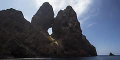 Kissing rocks (Michel Couprie) Tags: europe france corse corsica scandola sea seascape mer water eau rock rocks rocher sky clouds nuages côte coast canon eos couprie tse24mmf35l