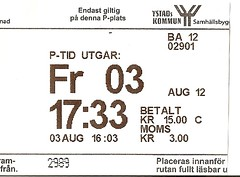 "Parkticket Schweden • <a style=""font-size:0.8em;"" href=""http://www.flickr.com/photos/79906204@N00/45406770984/"" target=""_blank"">View on Flickr</a>"
