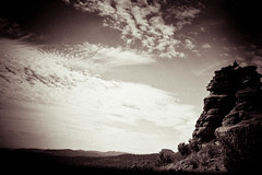 (Talisman39) Tags: az arizona bw holga monochrome piper sedona september2015 vignette mystical