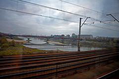Arriving Warsaw (Tete07) Tags: train warsaw varsovia landscape urbanlandscape urbanladscapefromthetrain trainlandscape