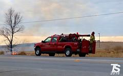 1/2 Grass Fire in Iowa Falls, IA 12-24-18 1555hrs (KansasScanner) Tags: iowafalls iowa up csx fire fd train railroad