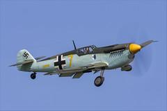 Hispano HA-1112-M1L Buchon - 11 (NickJ 1972) Tags: cosby victory show airshow 2018 aviation hispano messerschmitt ha1112 bf109 me109 buchon gawhm yellow 7