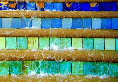 Colourful Sheffield fountain (Tony Worrall) Tags: sheffield wet water splash splashiny color colour colours colourful tiles fountain yorks yorkshire english uk britain british council outside outdoors item stock buy sell sale steps visit visiting location place feature waterfeature art style nice arty hues full midlands forsale ilobsterit instagram flickrphoto photography