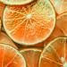 Slices of freshly cut orange