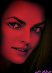 Beauty enhanced in red light effects... (zairakhan) Tags: portrait model red prettygirl beautifulgirls indoor posterpic smile people eyes