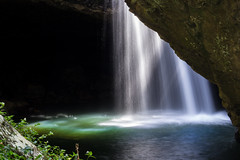 Natural Bridge Cave Waterfall and Sun Rays (do_japan) Tags: australia queensland natural cave springbrook national park bridge waterfall sun rays beautiful nature geology subterranean water mist pool underground