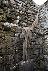 Ghostly corner (backpackphotography) Tags: church clare ruin ruins 15thcentury backpackphotography carving ireland