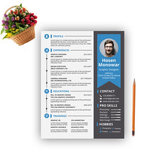 Resume/CV Design (mhmonowar) Tags: resume design cv resumefree id company psd