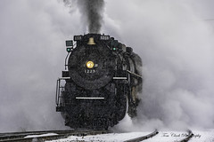 keeping ahead of the North Pole Express ~ Pere Marquette 1225 on its run between Owosso and Ashley (TAC.Photography) Tags: steamrailroadinginstitute steamtrain northpoleexpress d7500 steam trian engine smoke 1225 peremarquette1225 tomclarknet tacphotography puremichigan