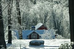 Icy Glaze - Southbury, CT (R. Miska Seeking Light) Tags: connecticut southburyct red barn ice snow cold