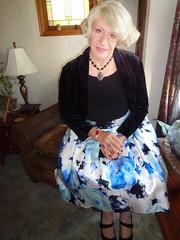Feeling Like A Lady (Laurette Victoria) Tags: dress lady woman laurette blonde shrug floralprint necklace