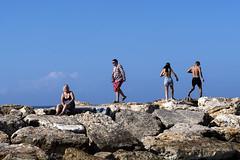 On the rocks (Poupetta) Tags: tlv beach rocks