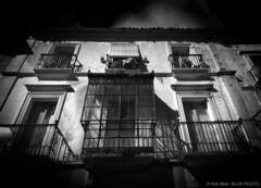 Facade-BPN0358bw (Rob Blok / BLOK PHOTO) Tags: street travel spain facade houses architecture nikon dx 1224mm blackwhite highcontrast blokphoto robblokphotography robblokfotografie
