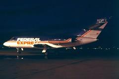 N27FE Federal Express Dassault  Falcon 20DC at KCLE (GeorgeM757) Tags: n27fe falcon20dc federalexpress dasssault kcle clevelandhopkins nightairplane georgem757 aircraft aviation airplane airport bizjet airfreight cargo