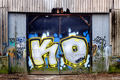 Knockout! (Jamie Medford) Tags: 2019 doors graffiti january kent lockup shed tunbridgewells