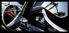 Shades of Black (Burnt Umber) Tags: car auto automobile west palm beach florida show digitalisthedevil pentaxk5 september 2016 classic van ©allrightsreserved antique tail light lamp rpilla001 dosemstic ford gm detroit pentaxfa77mmf18 chrome fpord chevy olds oldsmobile skull hood ornament badge lakepark veteransday phonetography fauxtography hotrodcity stuart v8 super eight 8 austin healey