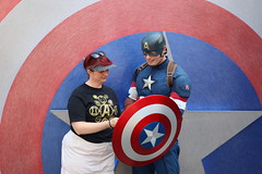 "Tracey meeting Captain America at Disney California Adventure • <a style=""font-size:0.8em;"" href=""http://www.flickr.com/photos/28558260@N04/45998186562/"" target=""_blank"">View on Flickr</a>"