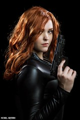 She Dares You... (Ring of Fire Hot Sauce 1) Tags: cosplay blackwidow audreyenglish 3sgstudio portrait redhead