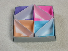 Diagonal toolboxes (Mélisande*) Tags: mélisande origami box toolbox