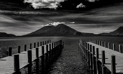 We are on a volcano ! (poupette1957) Tags: art atmosphère architecture abandoned black beach canon curious deco detail embarcadère grandangle guatemala graphisme imagesingulières sky landscape monochrome noiretblanc noir nature photographie street sea travel voyage view