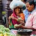 Woman Buying Grapes, Varanasi India