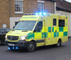 East of England Ambulance Service NHS Trust . 901 AY64BWU  . Hockrill , Bishop's Stortford , Hertfordshire . Tuesday 04th-December-2018 . (AndrewHA's) Tags: hertfordshire bishopsstortford east england ambulance service nhs trust mercedes benz 519 cdi sprinter emergency 999 blue lights